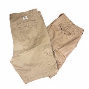 TOMMY HILFIGER + LEVI Mens Khaki Cargo Shorts sz42